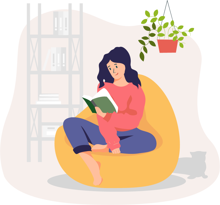 Person reading in health recovery
